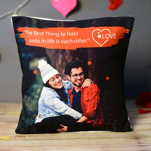 Holding On Personalised Photo Cushion Gifts for Valentine's day