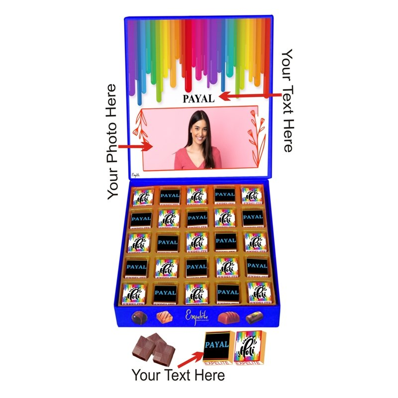 Personalized Holi Gift For Employees - 25 pc Send Colourful  Holi Gifts Online