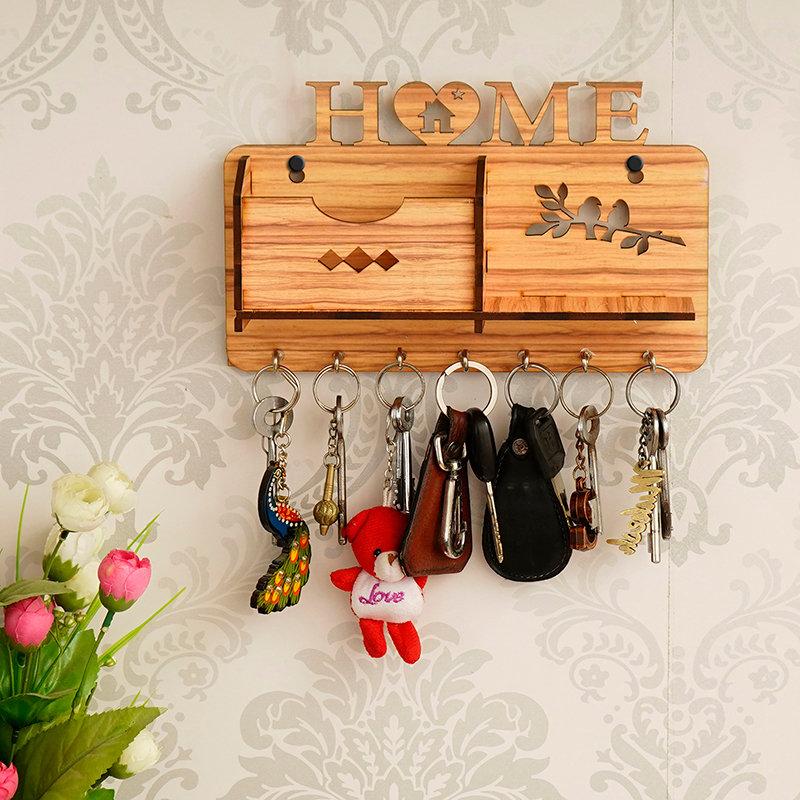 Home Multiutility Wooden Keyholder
