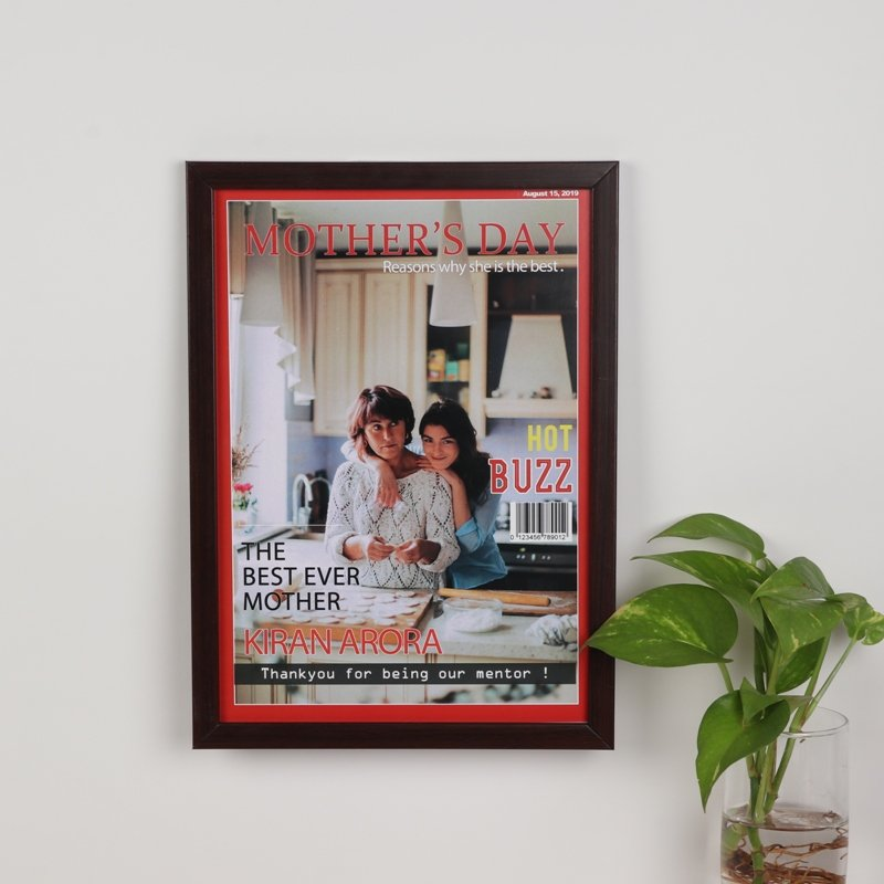 Hot Buzz Mothers Day Photo Frame - Personalised A4 Size Wall Frame