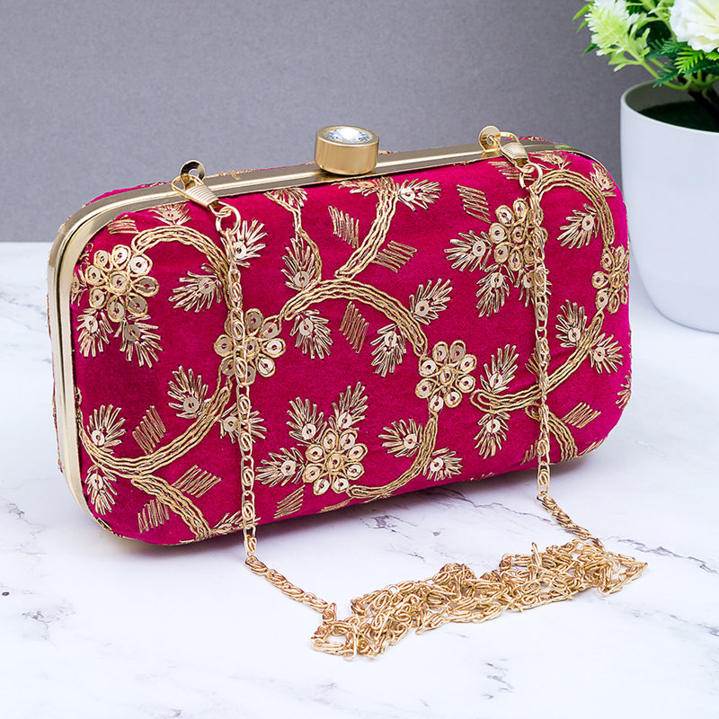 Hot Pink Party Clutch