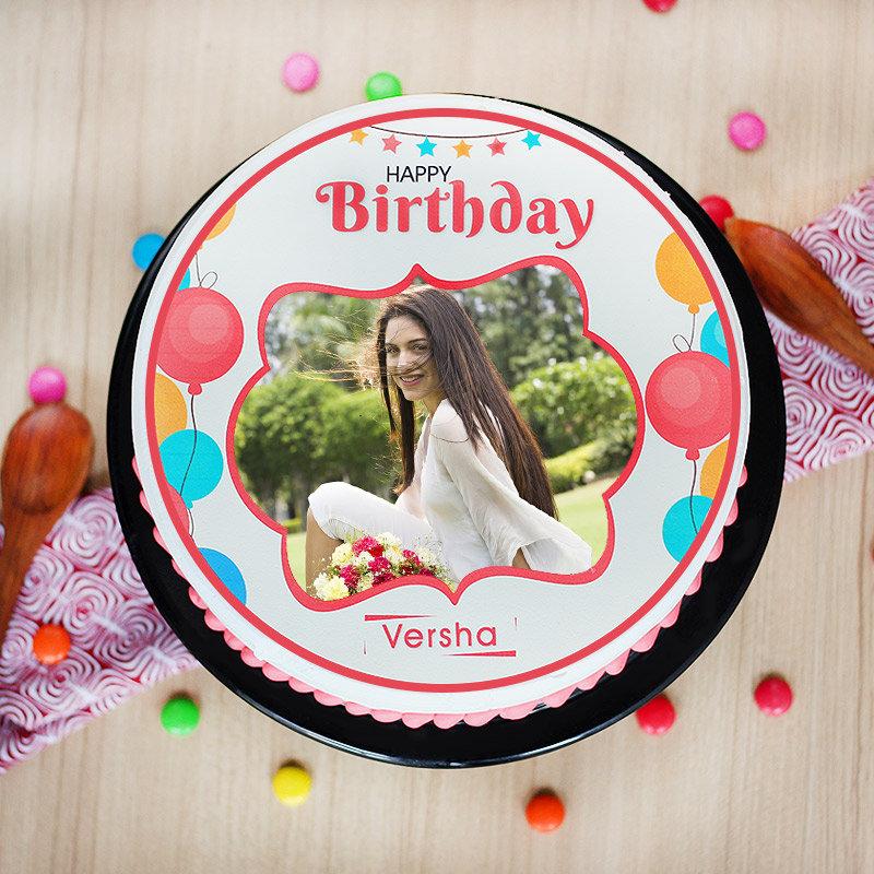 Birthday Exuberance photo cake