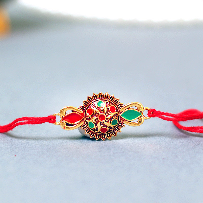 Prdouct View in Hulk Syngonium Plant With Rakhi - Rakhi with Gifts Online