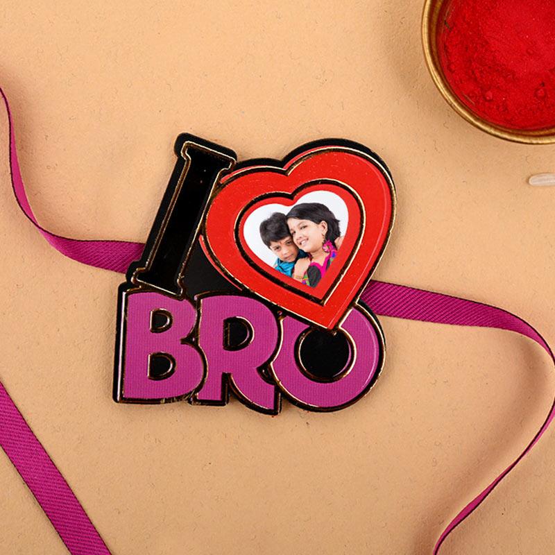 I Love Bro Personalised Rakhi - One Personalised Rakhi