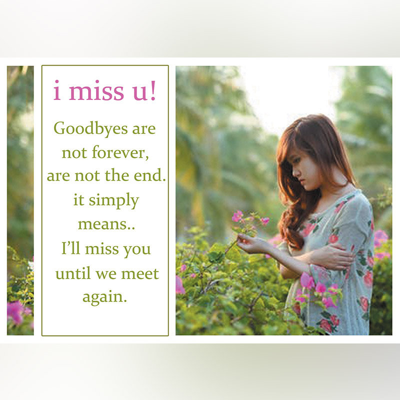 Personalised I Miss You E Card