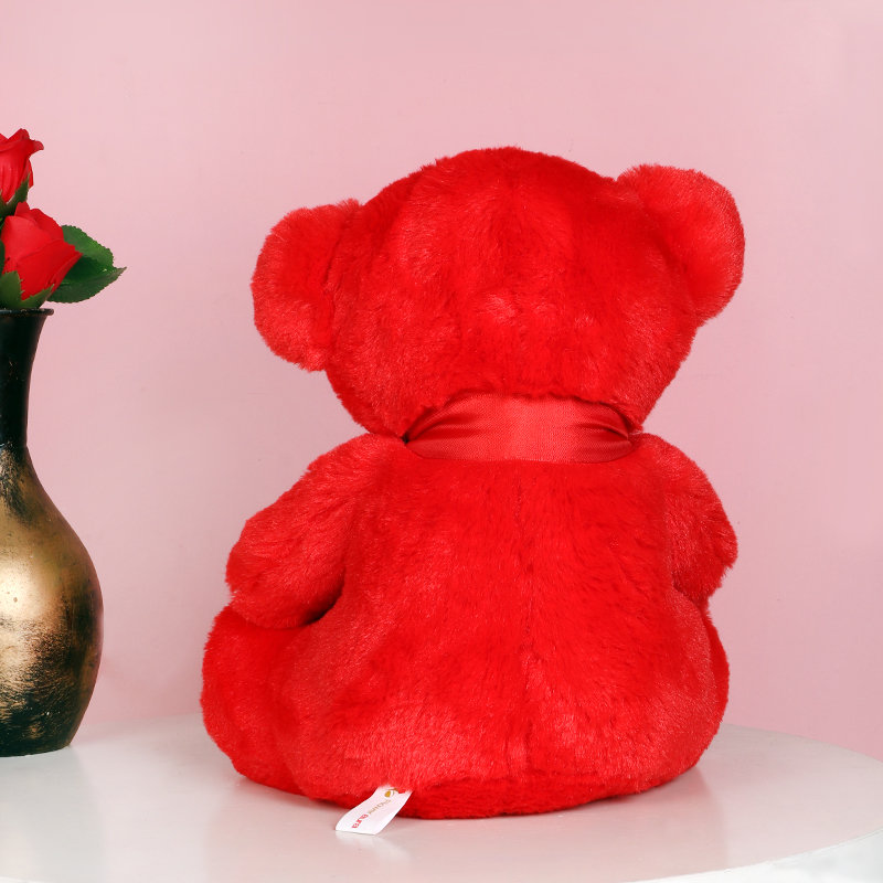 Red Heart Teddy Bear for Valentines Day Gift