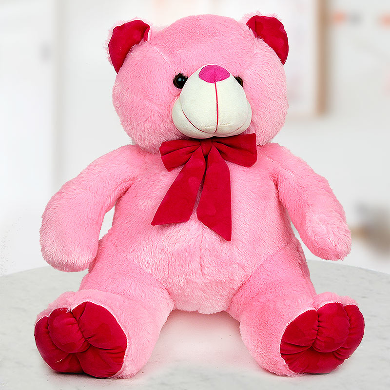 A 24 inch cute pink soft Teddy
