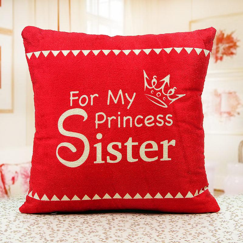 inexpressible love sister cushion