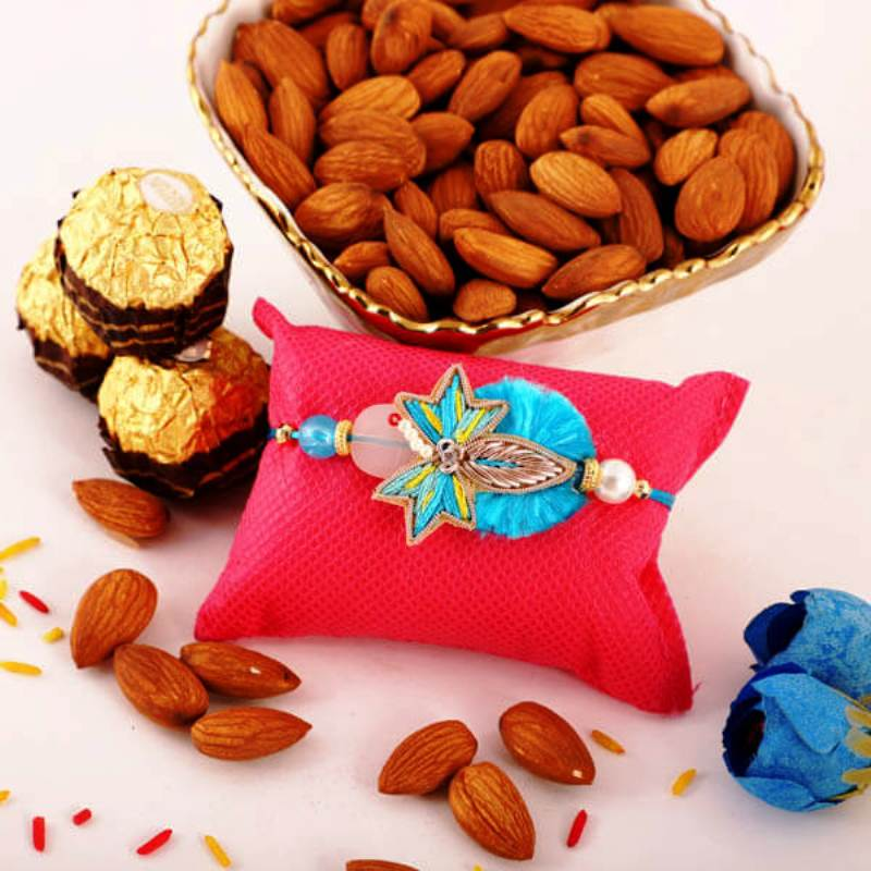 Intricate Rakhi Rocher Nuts Combo