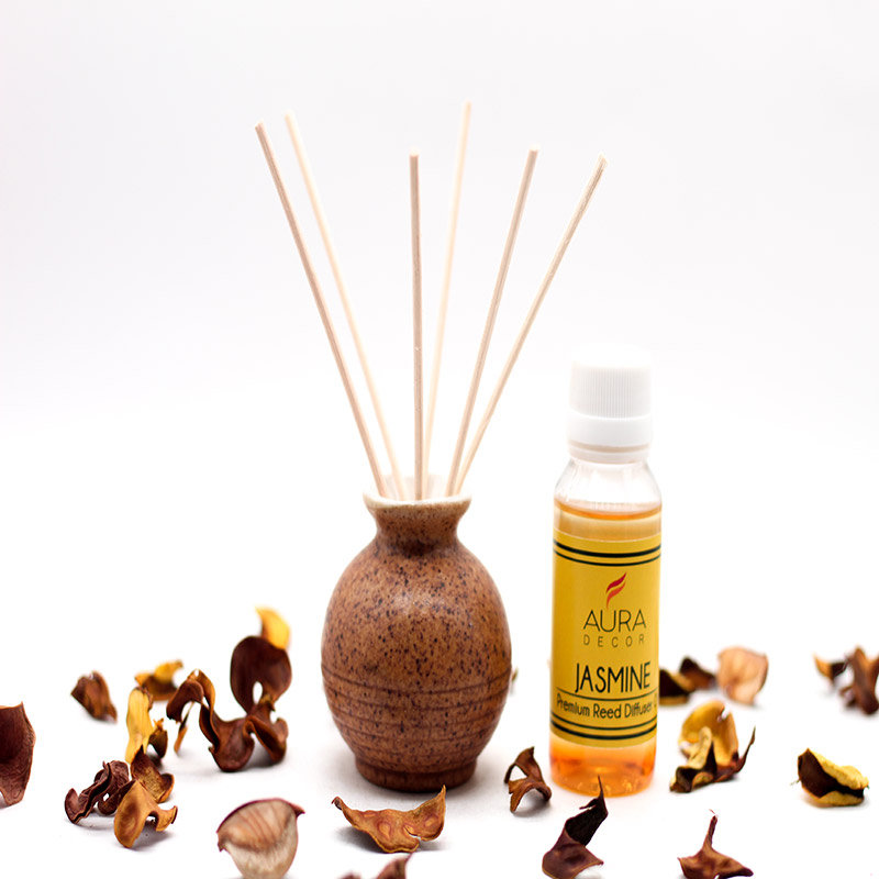 Reed Diffuser - A Product of Jasmine Aroma Oil Diffuser Set