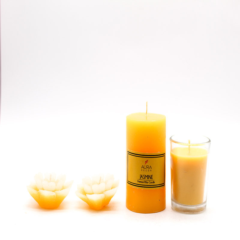 Votive Candles - A Product of Jasmine Aroma Oil Diffuser Set