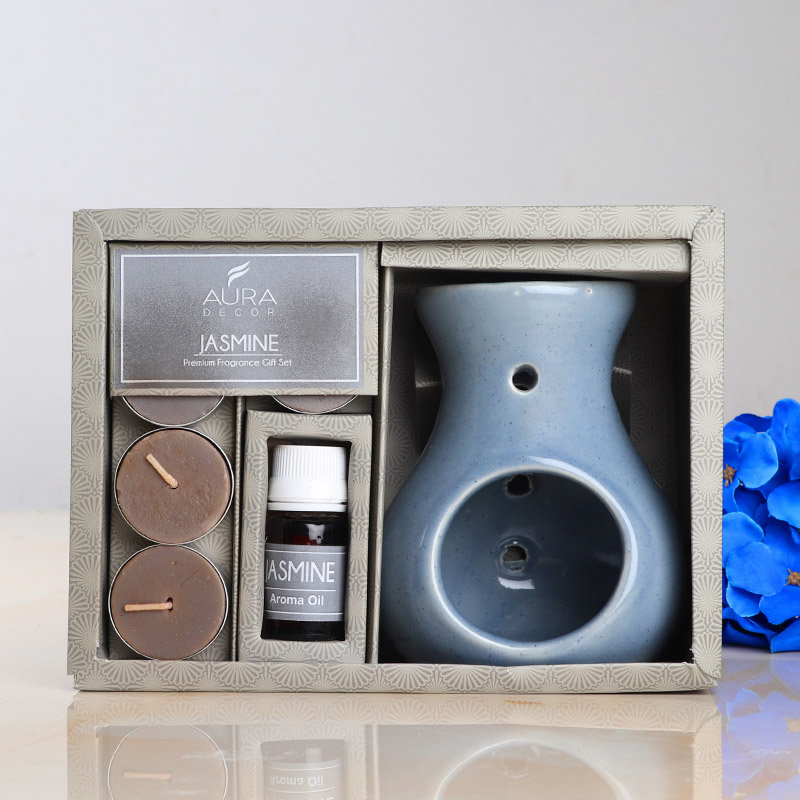 Jasmine Candle Diffuser Gift Set in a Box - Premium Fragrance Birthday Gift Set