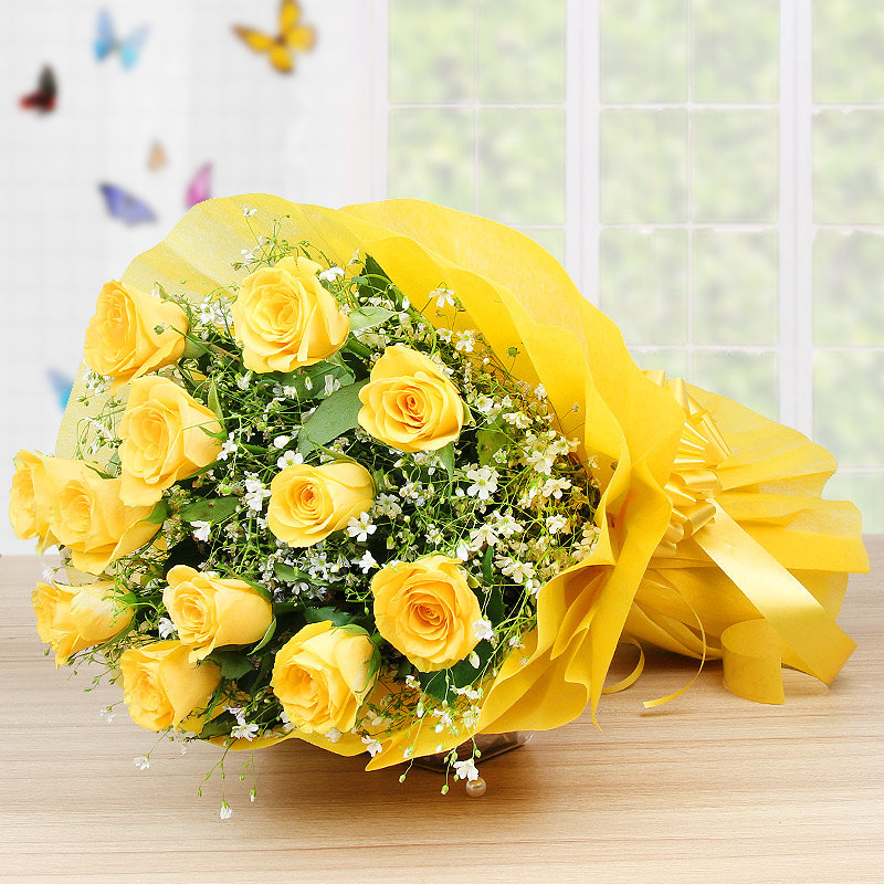 Bunch of 12 Yellow roses - Part of Joyous Celebrations