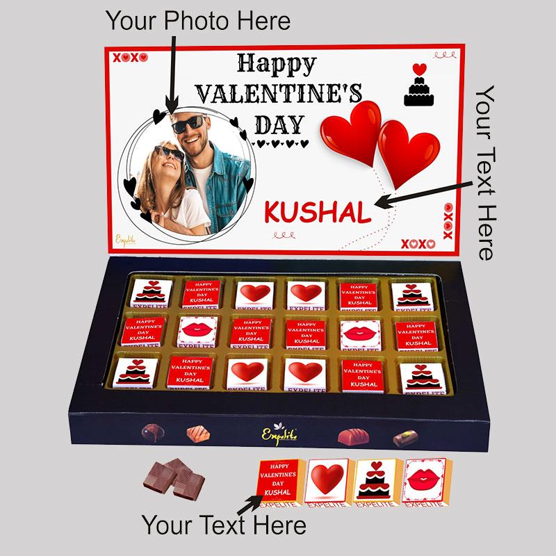 Just Hearts Vday Personalised Choco Box