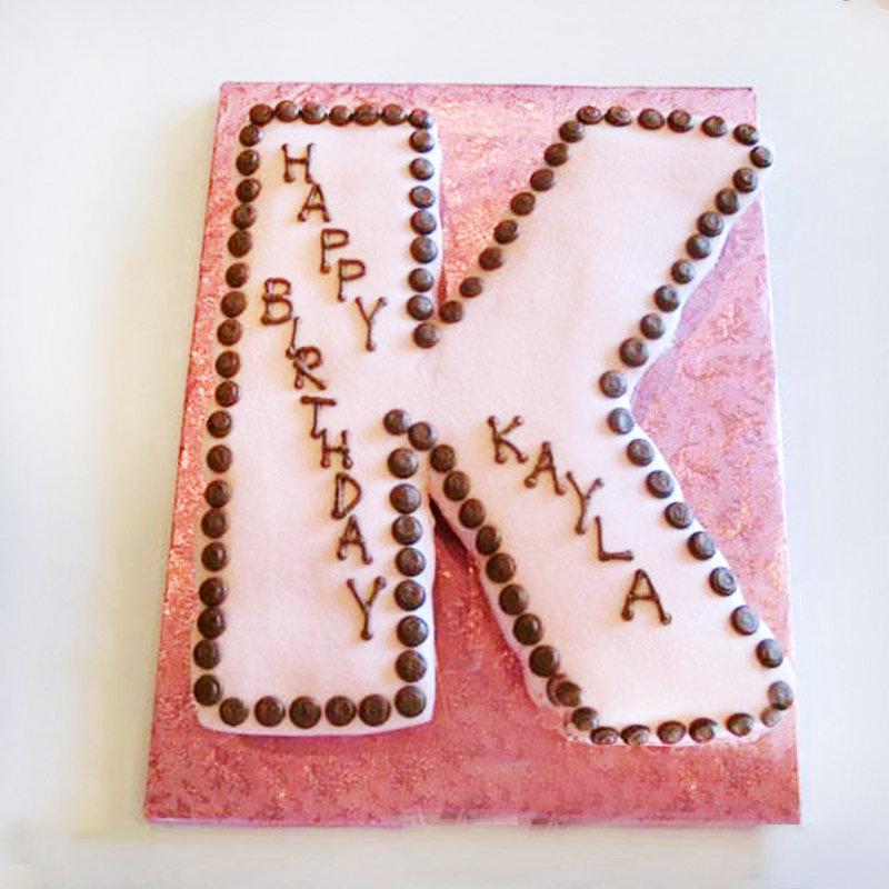 Alphabet K Theme Cake