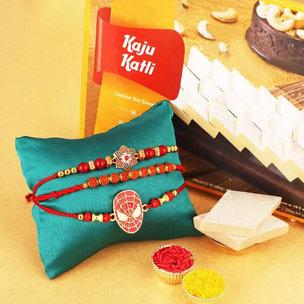 Kaju Katli Rakhi Gift Pack