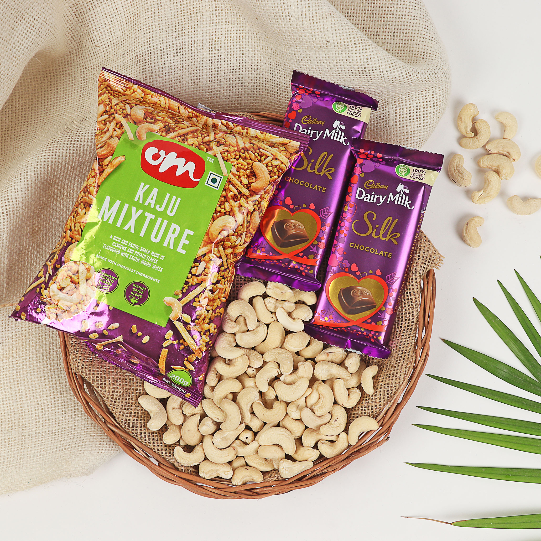 Chocolate and Snack with Dry Fruits