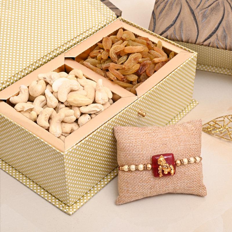 Kanha Rakhi Nuts Signature Box - One Designer Rakhi Premium Box