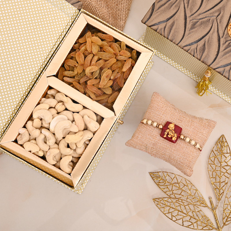 One Designer Rakhi Premium Box - Kanha Rakhi Nuts Signature Box