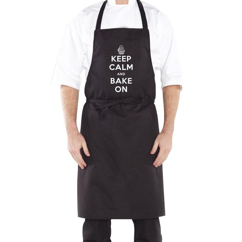 Keep Calm Black Apron