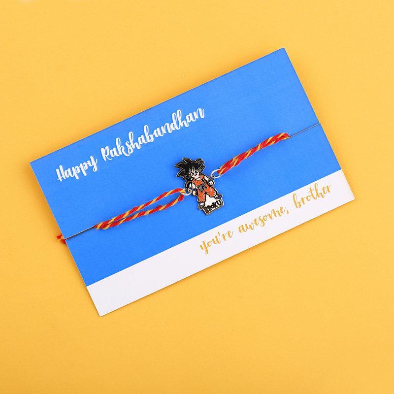Rakhi Card in Kid Goku Rakhi