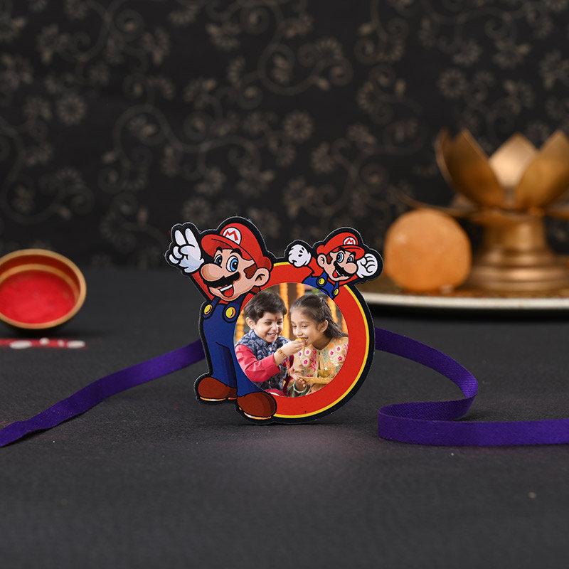 Kids Mario Rakhi - One Cartoon Personalised Rakhi