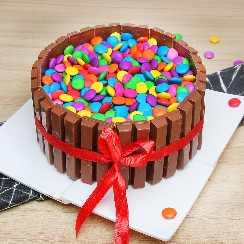 Half kg Kitkat gems cake - Part of KitKat Gems Extravaganza