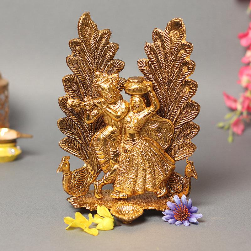 Krishan Radha Diya Stand - Material - Metal
