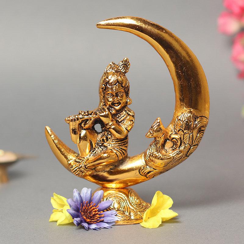 Krishna Moon Idol - Metal