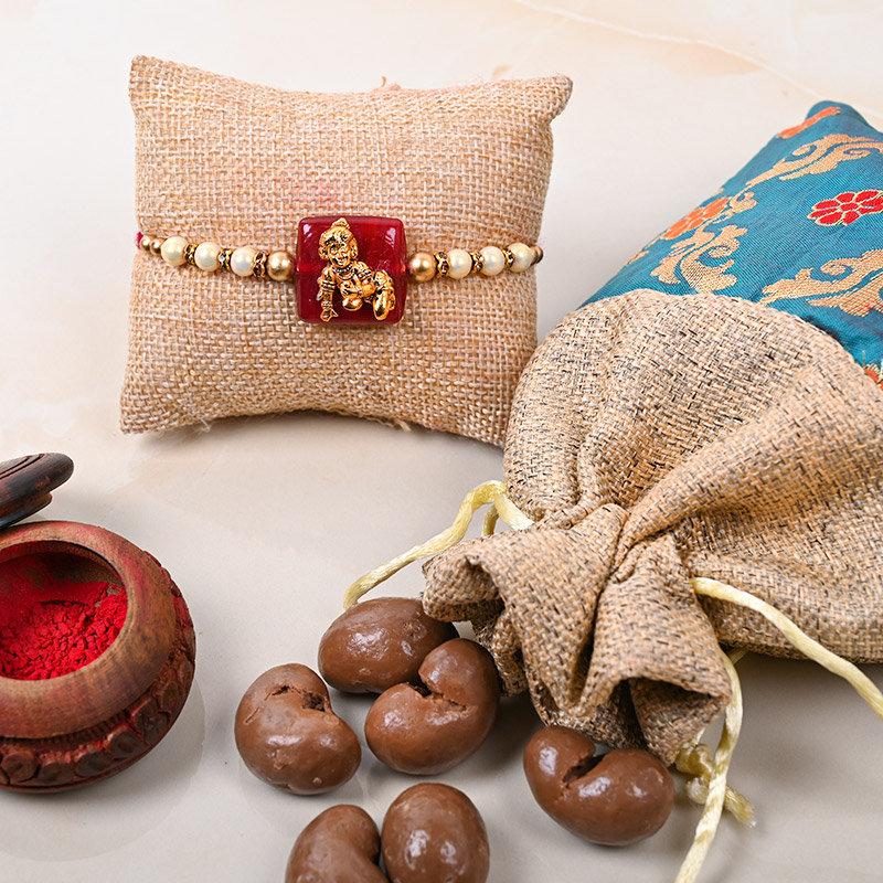 Krishna Rakhi Choco Hamper - Designer Rakhi With Chocolate large view
