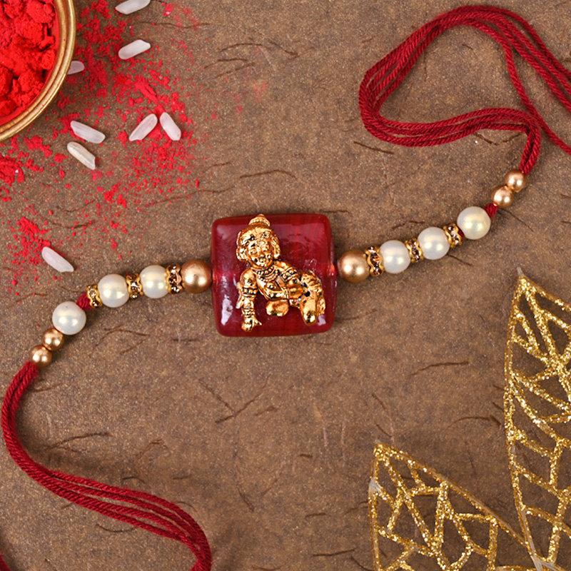 Krishna Rakhi Choco Hamper - Designer Rakhi With Chocolate Rakhi view