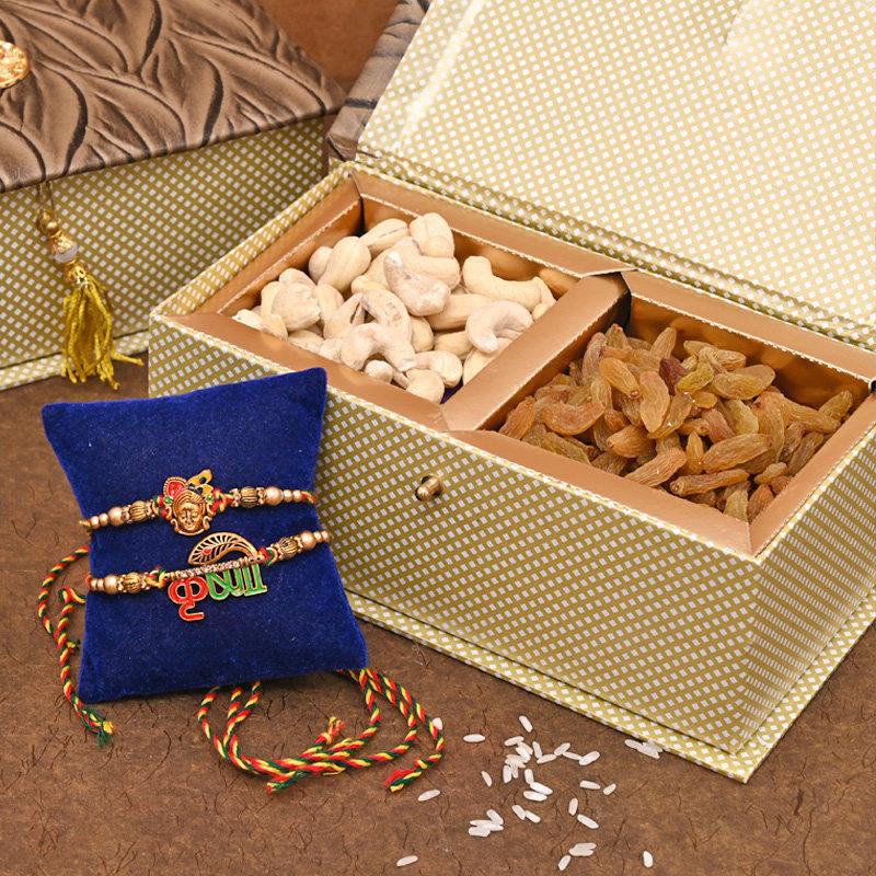 Krishna Rakhi Pack - Set of 2 Designer Rakhi Premium Box