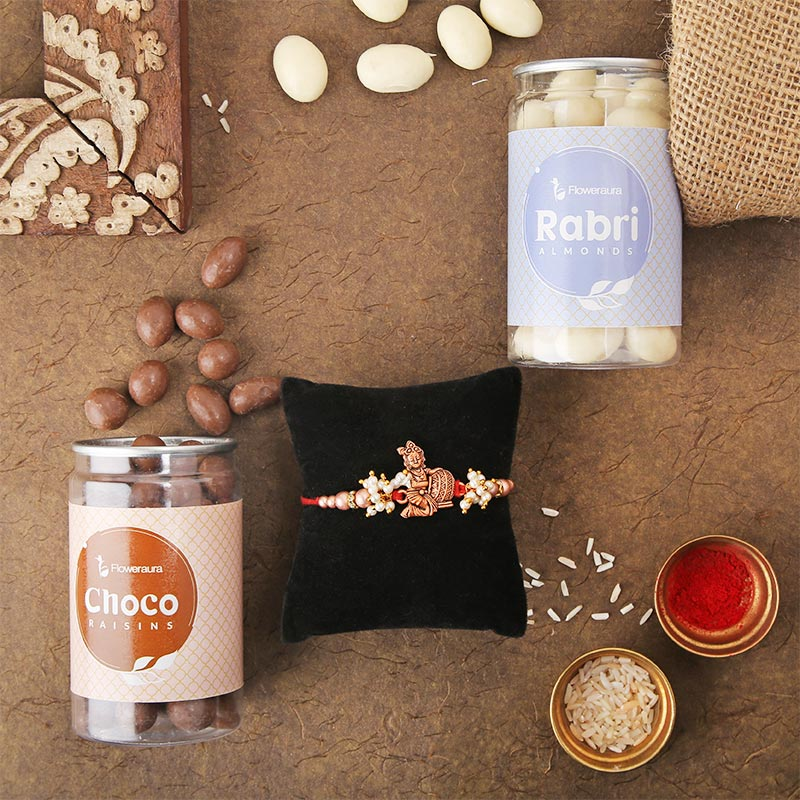 Krishna Rakhi With Choco Nuts