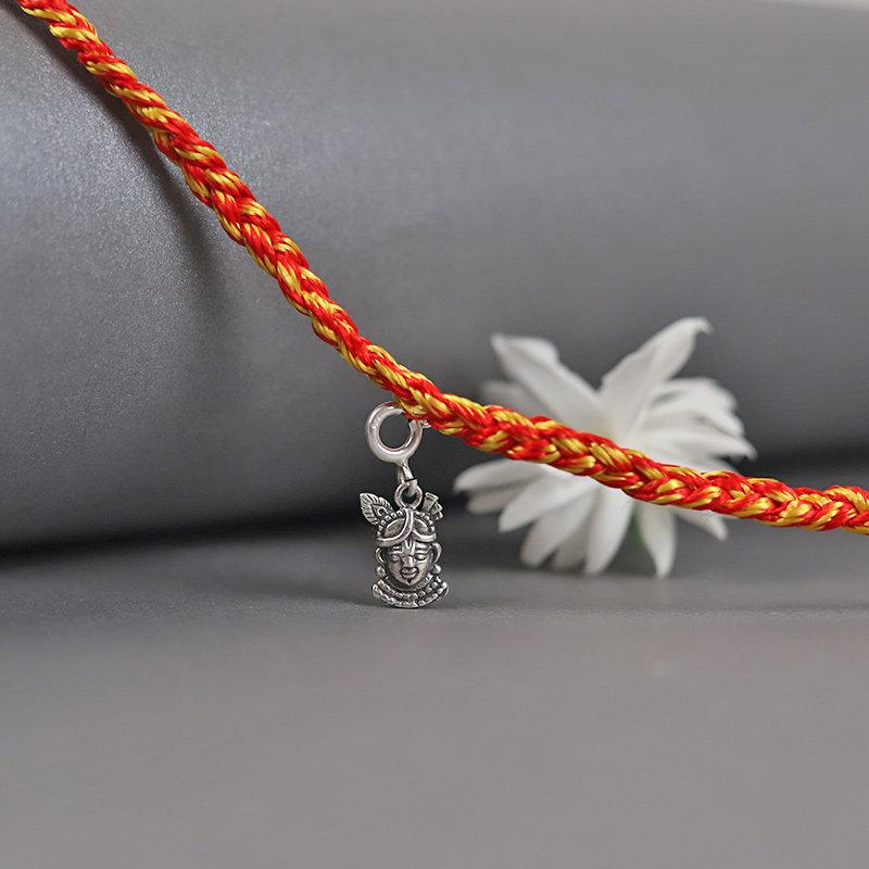 Krishna Sterling Silver Rakhi - Silver Designer Rakhi Online