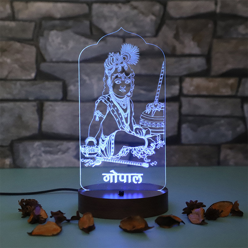 Laddu Gopal Glowing Multicolour Lamp - A Unique Gift for Mother
