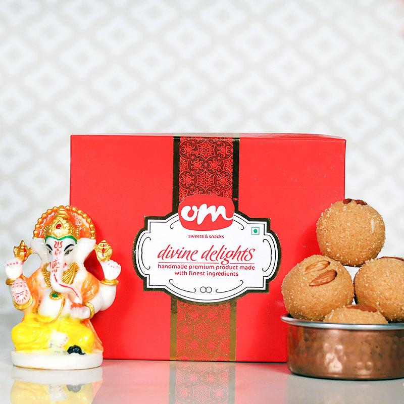Ladoo & Ganesha Combo- Diwali Gift