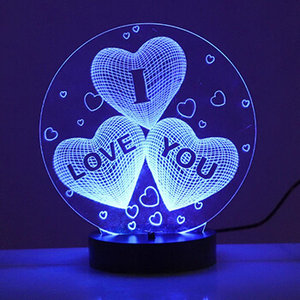 Personalised Lamp For Valentine Day