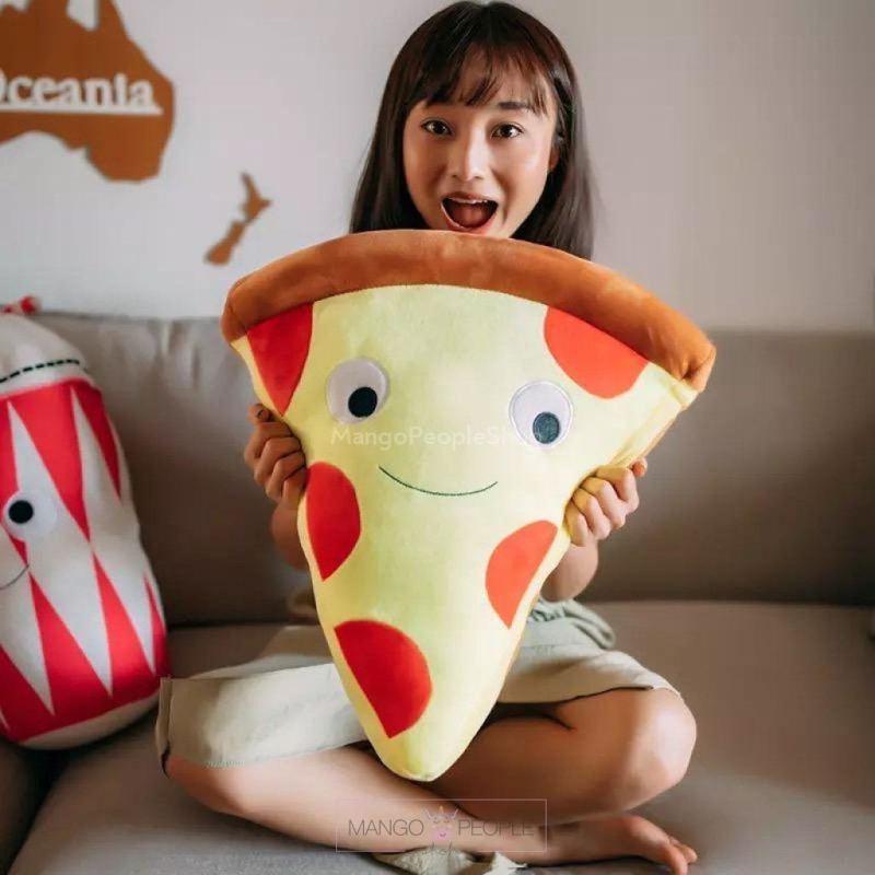 Large Happy Pizza Cushion