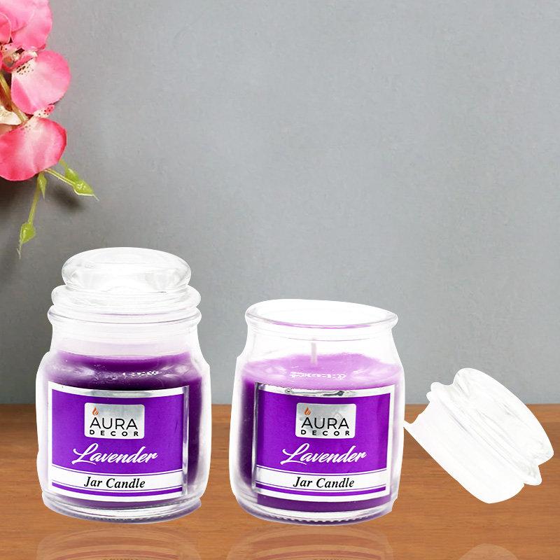 2 Jar Candles with Lavender Fragrance