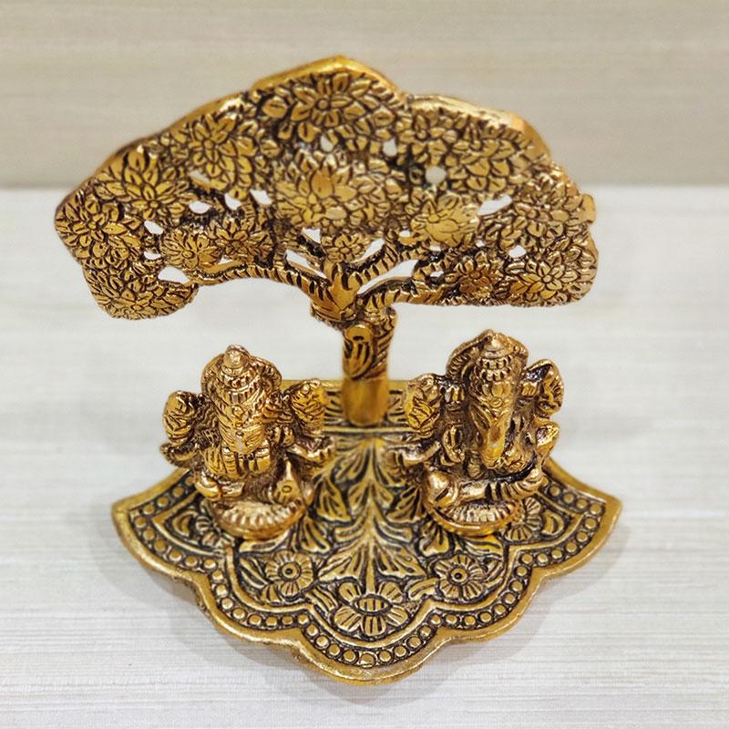 Laxmi Ganesha Tree Statue