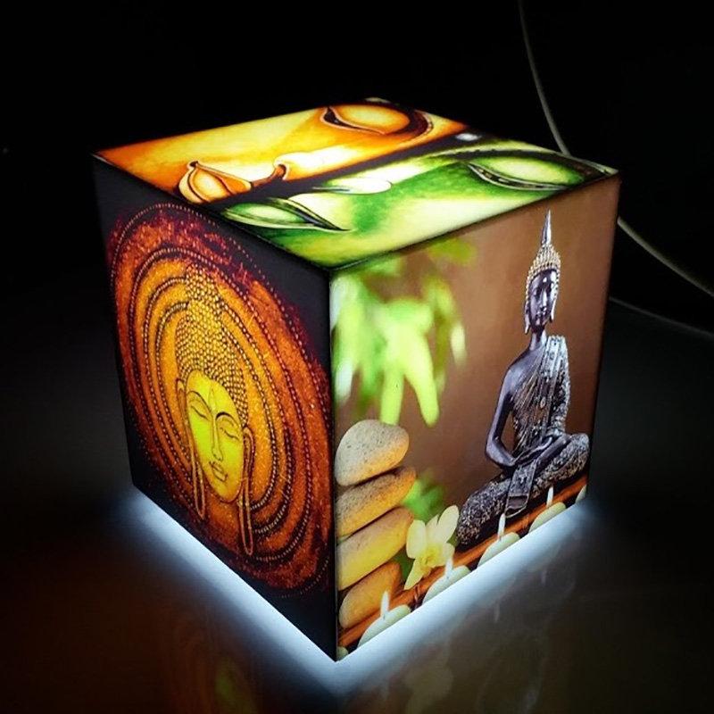 Led Buddha Cube