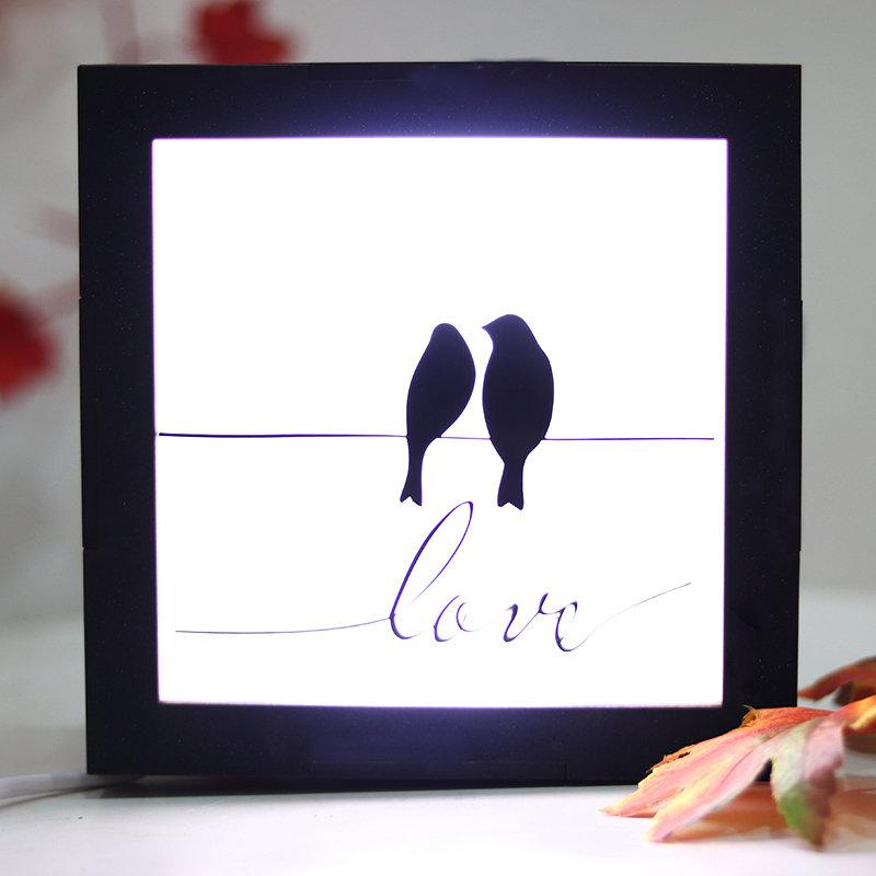 LED LoveBird Frame