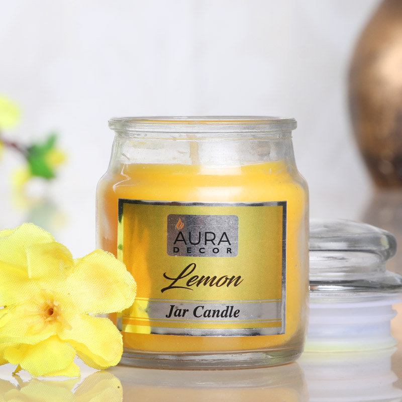 Zoom view of Lemon Jar Candle Gift