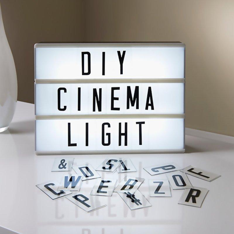 Letter Lights Diy Box