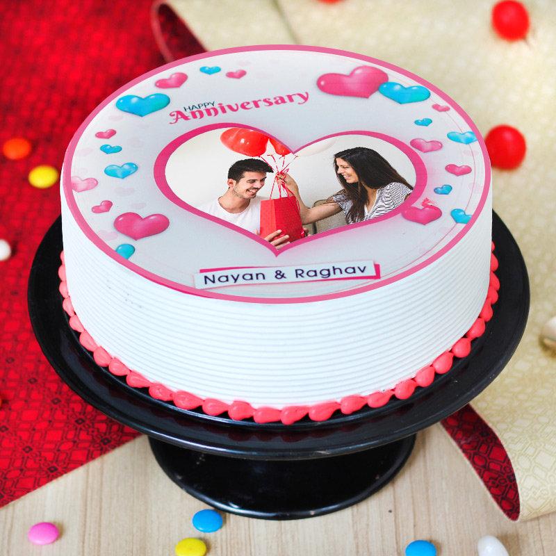 Photo Anniversary Cake