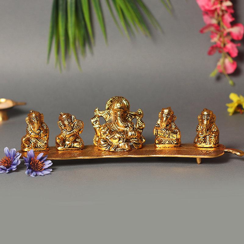 Lord Ganesh Metal Idol - Material - Metal