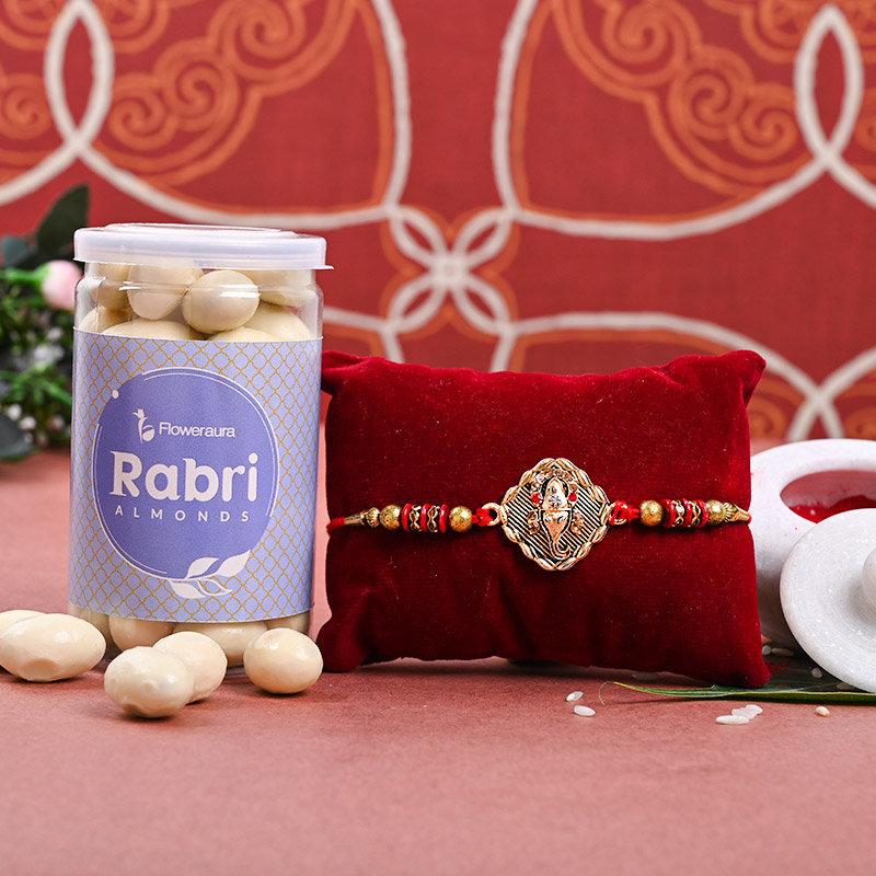 Lord Ganesha Nuts Hamper - One Designer Rakhi