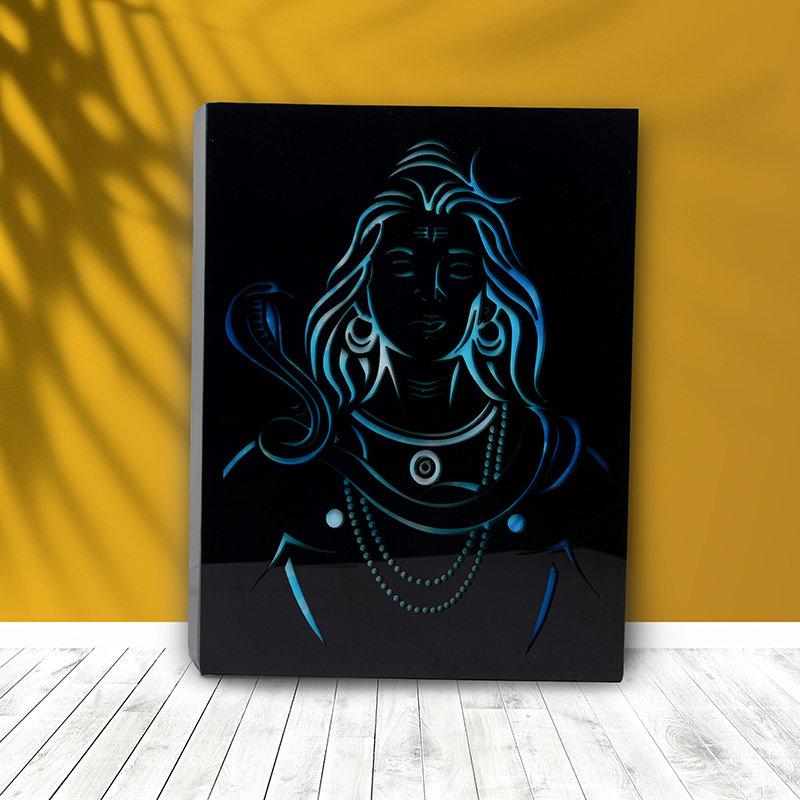 Lord Shiva Led Wall Frame