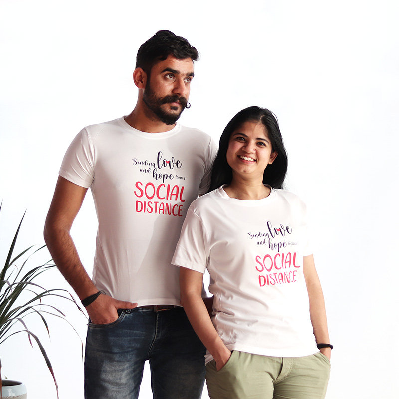 Love And Hope Couple T-Shirts