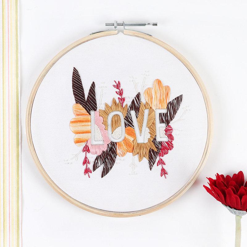 Love Embroidery Hoop Frame
